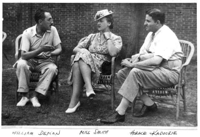 Horace Kadoorie with Miss Smith and William Deman